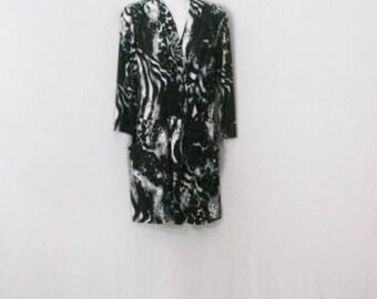 Black and White Dress Chicos Ethnic Leapard Animal Print Mini Dress SM