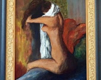 After Batch - Original Framed Painting