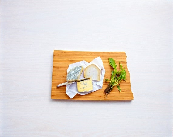 North Dakota Cutting Board 4th of july Gift Personalized engraved North Dakota cheese state shaped board
