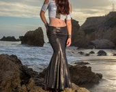 Last One SALE: The Cleopatra Mermaid Skirt in Gold Dust or White Shimmer by Opal Moon Designs (Last Sizes S or M)