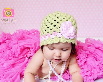 Baby Hat Crochet Pattern No.203 EIGHT sizes uses Double Knitting DK weight yarn Digital Download PDF