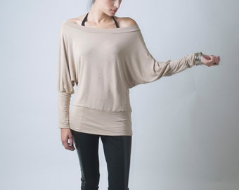 Slouchy Oversized  Party Blouse / Loose Casual Top / Beautiful Top / marcellamoda - MB050