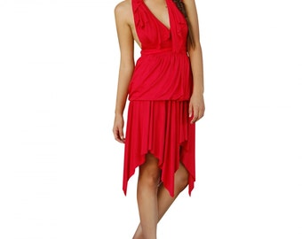 Women's Amore Red Tiered Dress- Size Small