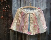 RESERVED for K. belle marie - a fancy collage couture skirt in pastel