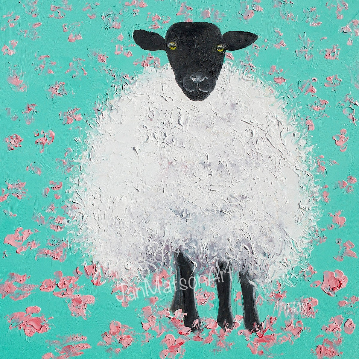 Suffolk Sheep Painting Nursery Wall Art Animal Paintings