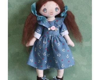 OOAK Jolly Girl Plush Doll.