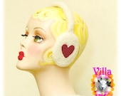 SWEETHEART adjustable felted earmuffs Made To Order (approx 2 weeks)