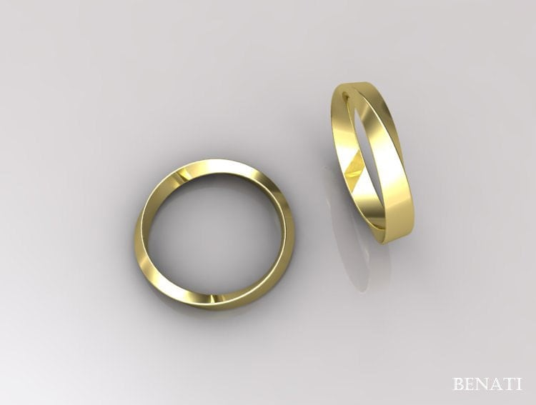 3mm Mobius Wedding Ring Infinity Wedding Ring Modern Mobius