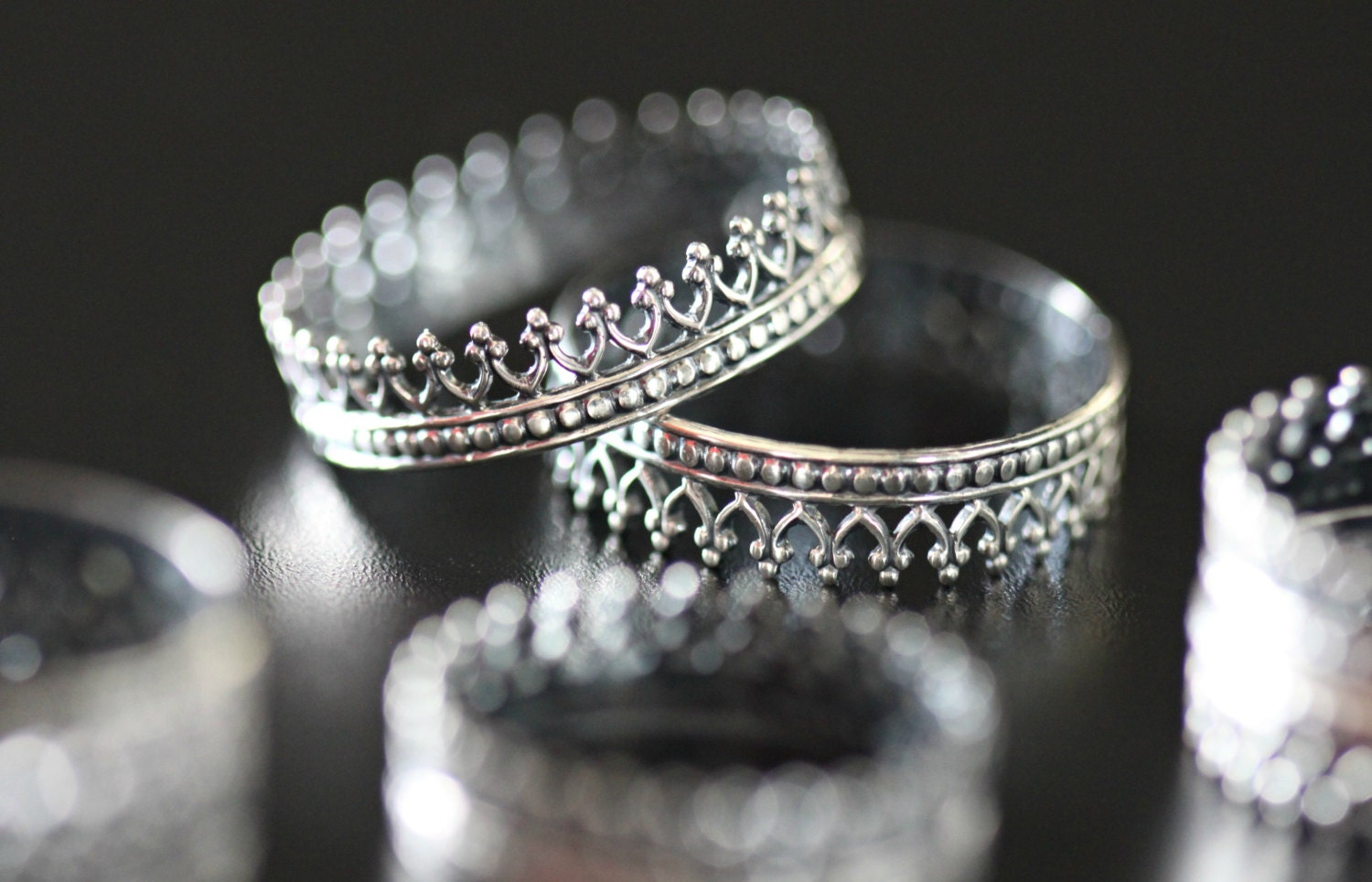 sale crown ring antique crown rings sterling silver by