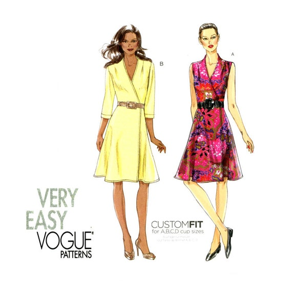 Vogue V8646 Wrap Dress Pattern