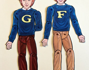 Fred and George Weasley Twins Articulated Paper Dolls