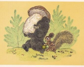Postcard Drawing by A. Golubev -- 1967