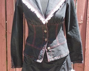 Cherry Ruffle Cotton Skirt - Size 4