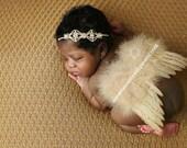 Newborn Angel Wings READY TO SHIP Sweet Heavenly Grace Wings And Headband Set Newborn Photo Prop