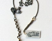 The Eagles Jewelry // Busy Being Fabulous Necklace // Rock N Roll Music Jewelry // Statement Necklace // Lariat // Hell Froze Over