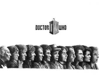 DR WHO pencil drawing