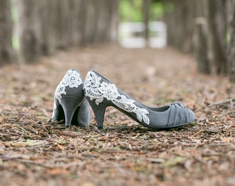 grey shoes for wedding. wedding shoes,grey bridal shoes,bridesmaid,gray,grey heels grey shoes for