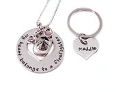 Personalized My Heart Belongs To A Firefighter - Hand Stamped Jewelry - Fireman's Wife - Couple Gift - Valentine's Day - Anniversary Gift