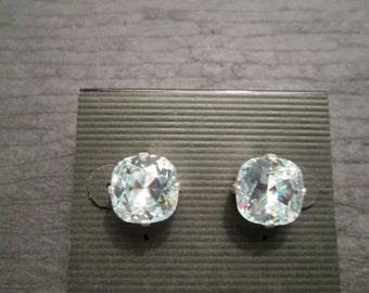 Swarovski Stud Earrings/Light Azore Swarovski Crystal Earrings/Pale Blue Crystal Studs/ Light Azure Bridesmaid Earrings/Light Blue Crystal