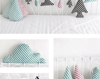 Diagonal Lines Cotton Fabric Lollipop - Black, Indi Pink or Mint - By the Yard 49652
