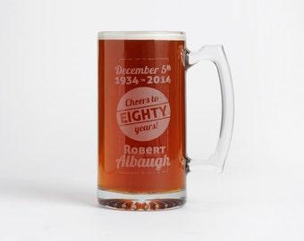 Etched Beer Mug, Personalized Beer Mugs, Engraved Beer Mugs, Groomsmen, Best Man Gift,