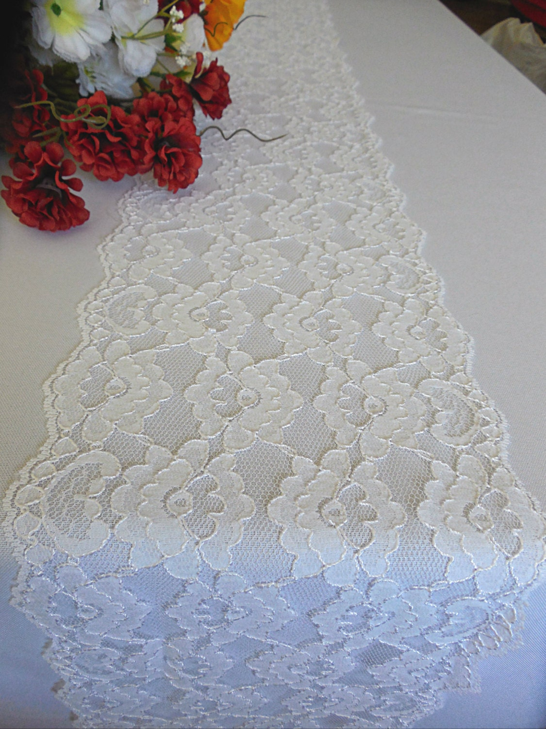 white lace table runner wedding lace table runner white
