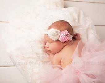 NEWBORN TUTU, Preemie Tutu and Headband Set, Tutu and Headband Set, Newborn Photo Prop, Preemie Photo Prop, Pink Tutu, Newborn Pink Tutu Set