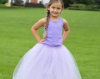 Full length light purple tutu skirt. Long tutu.