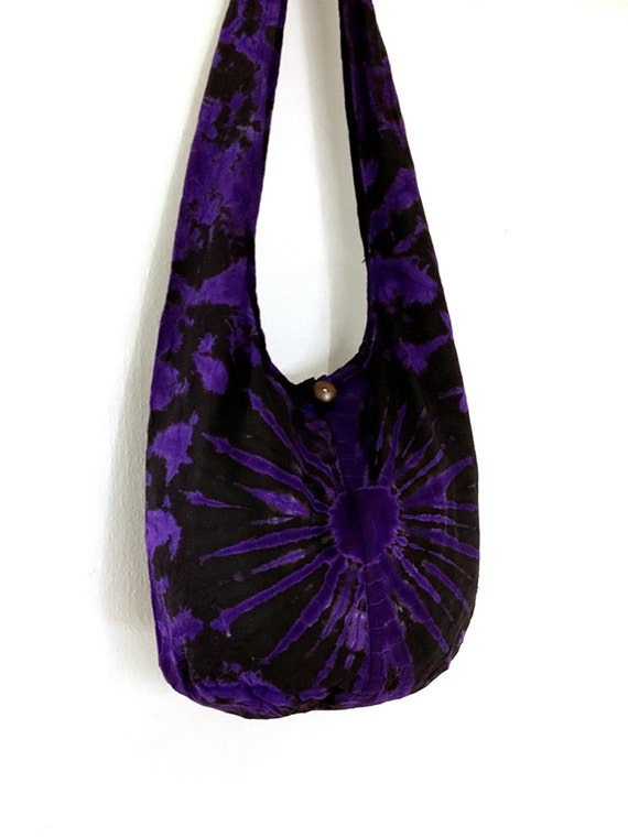 Tie Dye Bag Cotton Bag Hippie Bag Hobo Bag Boho Bag By