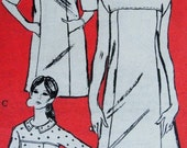 60s Mod  Dress and Top Prominent Designer M477 Vintage Sewing Pattern 3 Styles UNCUT Bust 32