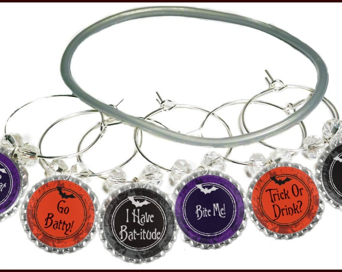 Halloween Wine Charms - The Bat Whisperer