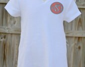 Swimsuit Coverup with Appliqued Monogram for Girls