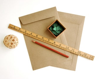 "50 C5 (6 3/8""x9"") Brown Kraft Open-end Envelopes - for A5 (half A4) cards and 6""x8"" photos"