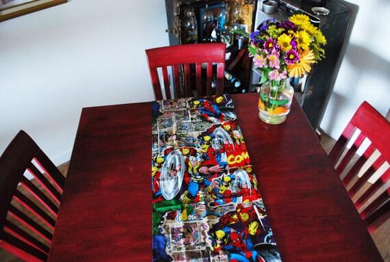 Marvel Retro Comics Table Runner Placemats House Decor