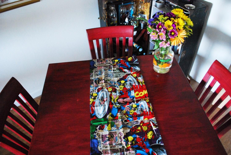 Marvel retro comics table runner placemats house decor - Marvel comics decor ...