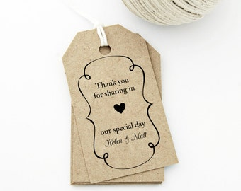 Wedding Favor Tags Template Word : tag template medium swirly frame and heart design wedding tag gift tag ...