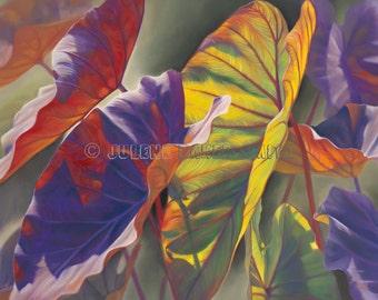 Tropical Art, Tropical Decor, Tropical Leaves Art, Tropical Plant, Elephant Ear Plant