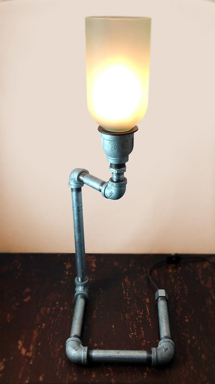 Recycled Wine Bottle Pipe Lamp by BottleThrottle