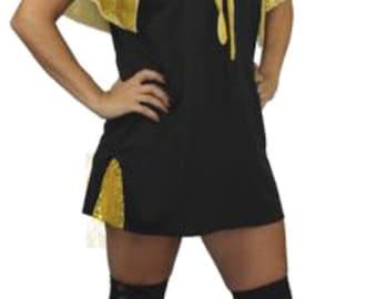 Elvis Gracelands Black Dress Set 1950s Gold Sequin Cape Fancy Dress