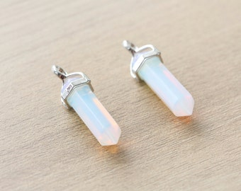 1 pcs of Opalite Point Pendant With Silver Plated Pendant - Gemstone Pendants