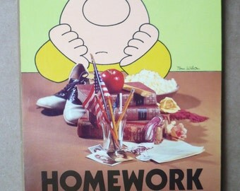Vintage Ziggy Comics American Greetings Homework Plaque Tom Wilson 1981