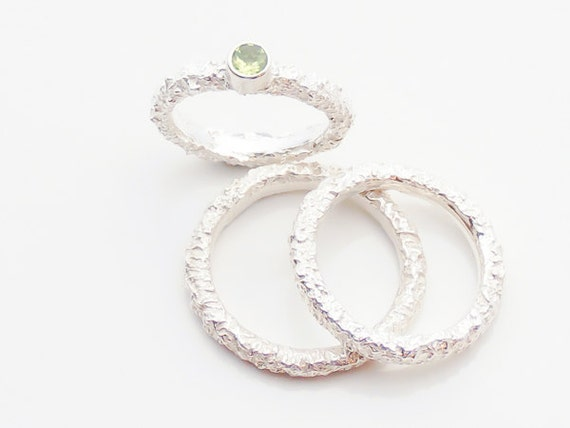 Peridot Wedding Ring Set Peridot Wedding Ring Set Peridot Engagement Wedding Ring Set