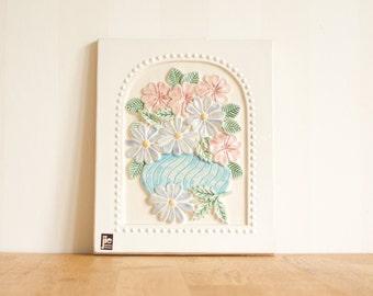 Jie Gantofta White Ceramic Plaque with Pink Lilac Flowers Aimo Nietosvuori