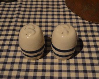 Salt and Pepper Shakers Rustic Farmhouse Blue Country Kitchen Salt and Pepper Blue Shakers I Ship Internationally