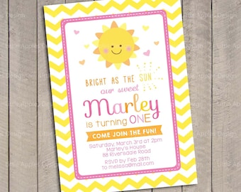 You are my sunshine birthday / Sunshine invitation / You are my sunshine invitation / You are my sunshine birthday invitation / Printable