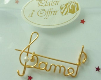 Name Brooch - Gold or silver