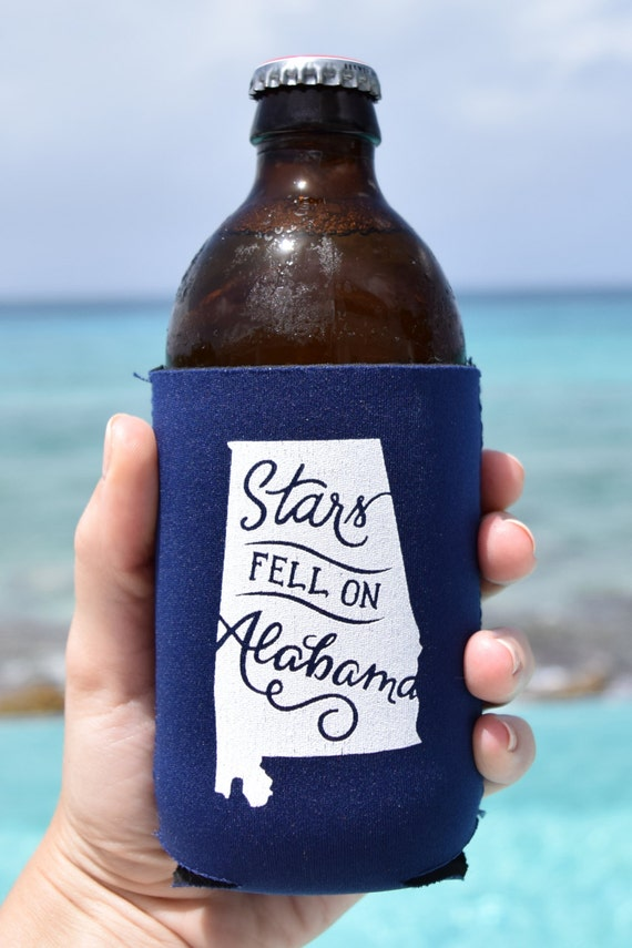 Stars Fell on Alabama Koozie in Navy