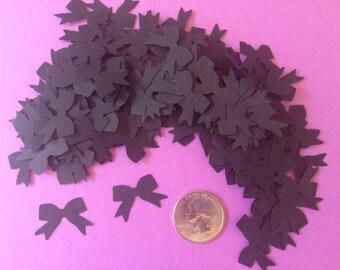 Black Bow Confetti, Decoration, Cutout, Die Cuts