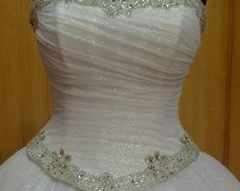 Bridal Corset Sweetheart Neckline Wedding Dress Top White Satin Women Corset Bridal Gown Boned Corset