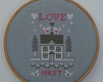 Love Nest (Instant download Cross Stitch pattern pdf)